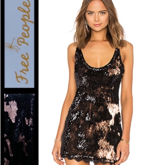 83fee9d429553 Free People Dresses | Seeing Double Sequin Slip Size Med | Poshmark
